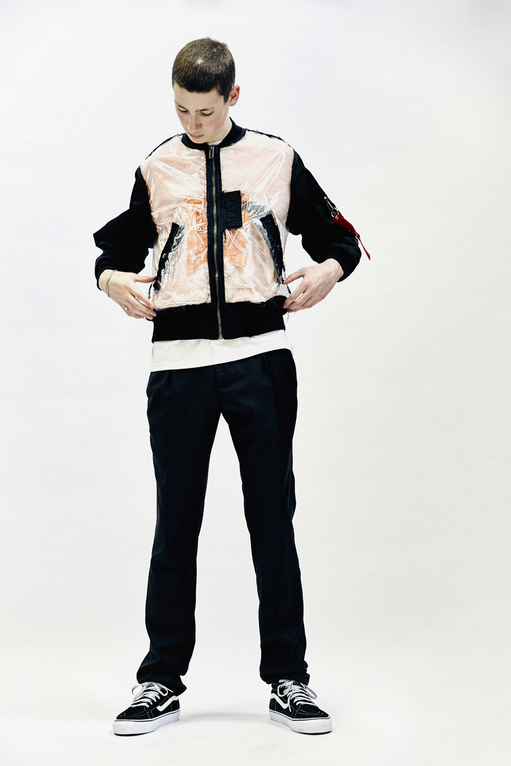 Christian Dada Detached Flight Jacket Mens New Arrivals A/W 17 Christian Dior CD plastic clear pvc transparent zip