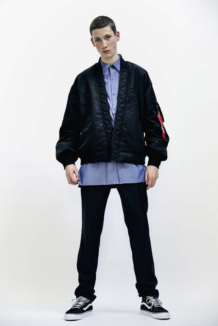 Christian Dada Bomber Jacket Black reversible orange coat Mens AW17 Christian Dior CD Autumn Winter 17 AW17