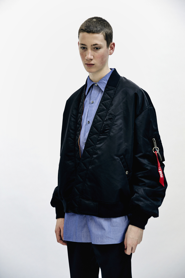 Christian Dada Bomber Jacket Black reersable orange coat Mens AW17 Christian Dior CD