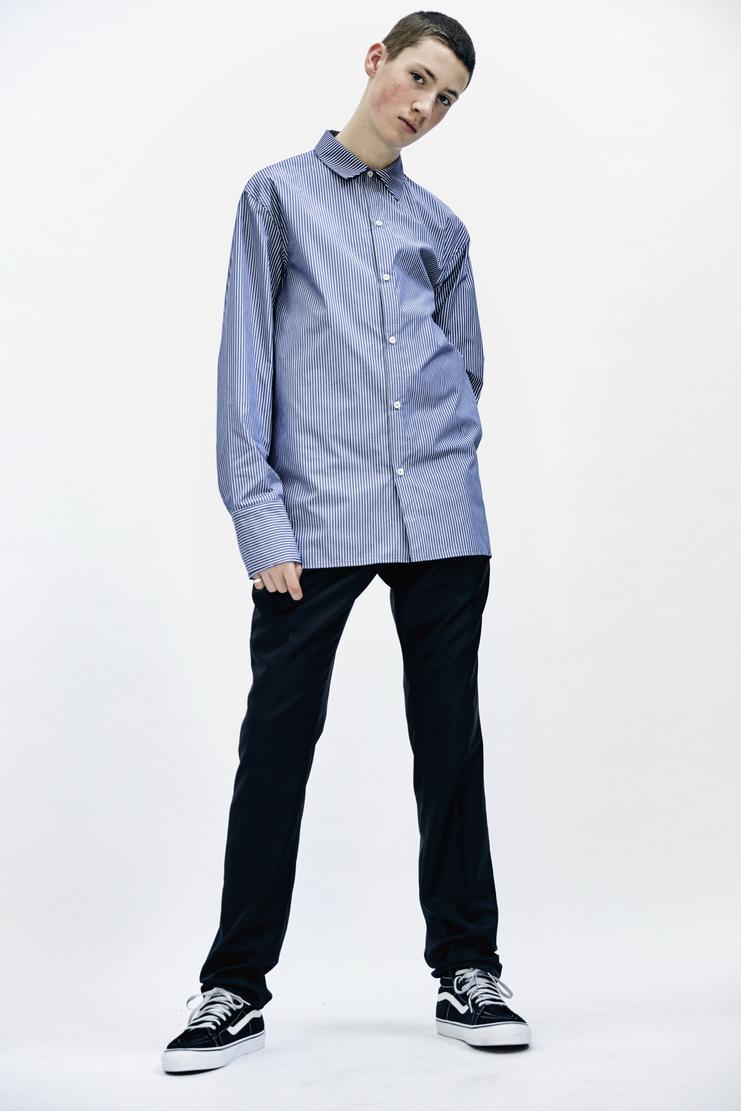 DELADA - Oversized Shirt lada komarova blue tailoring suit Autumn Winter 17 AW17