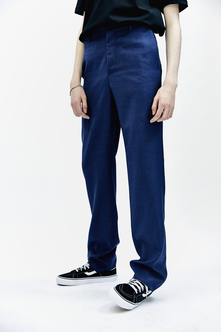 DELADA Relaxed Trousers Vivid Blue pants bottoms suit aw17 delad wool tailored tailor Autumn Winter 17