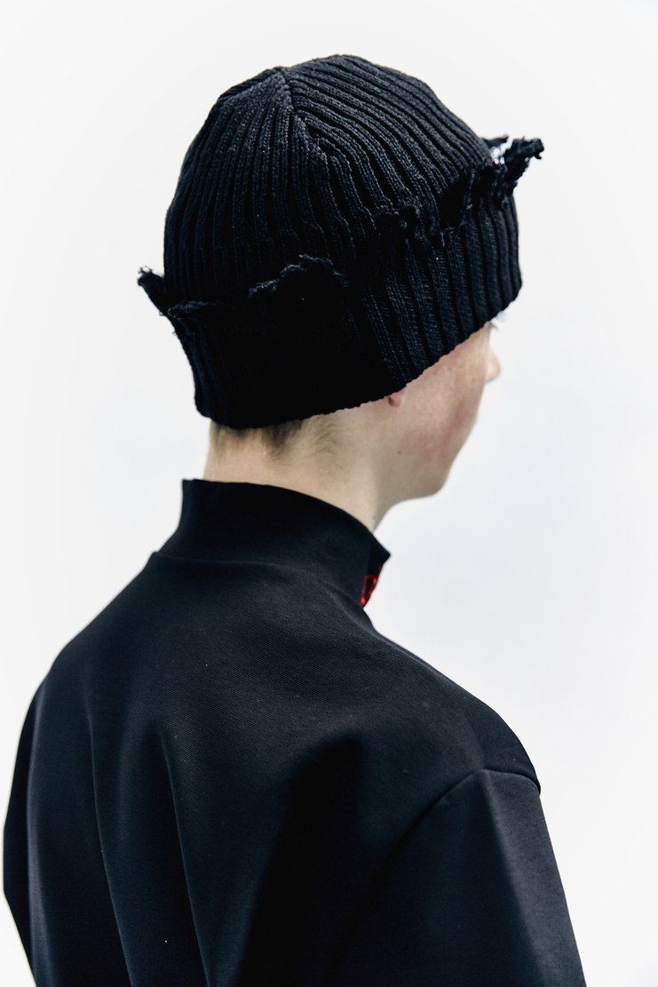 Liam Hodges Knit Beanie black hat aw17 thick knitted Autumn Winter 17 AW17 A/W17 Hat Accessories
