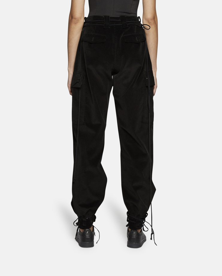 Hyein Seo Corduroy Pants With Military Belt Autumn Winter 17 AW17 A/W17 Cord Strings Cotton Trousers South Korea Accessories