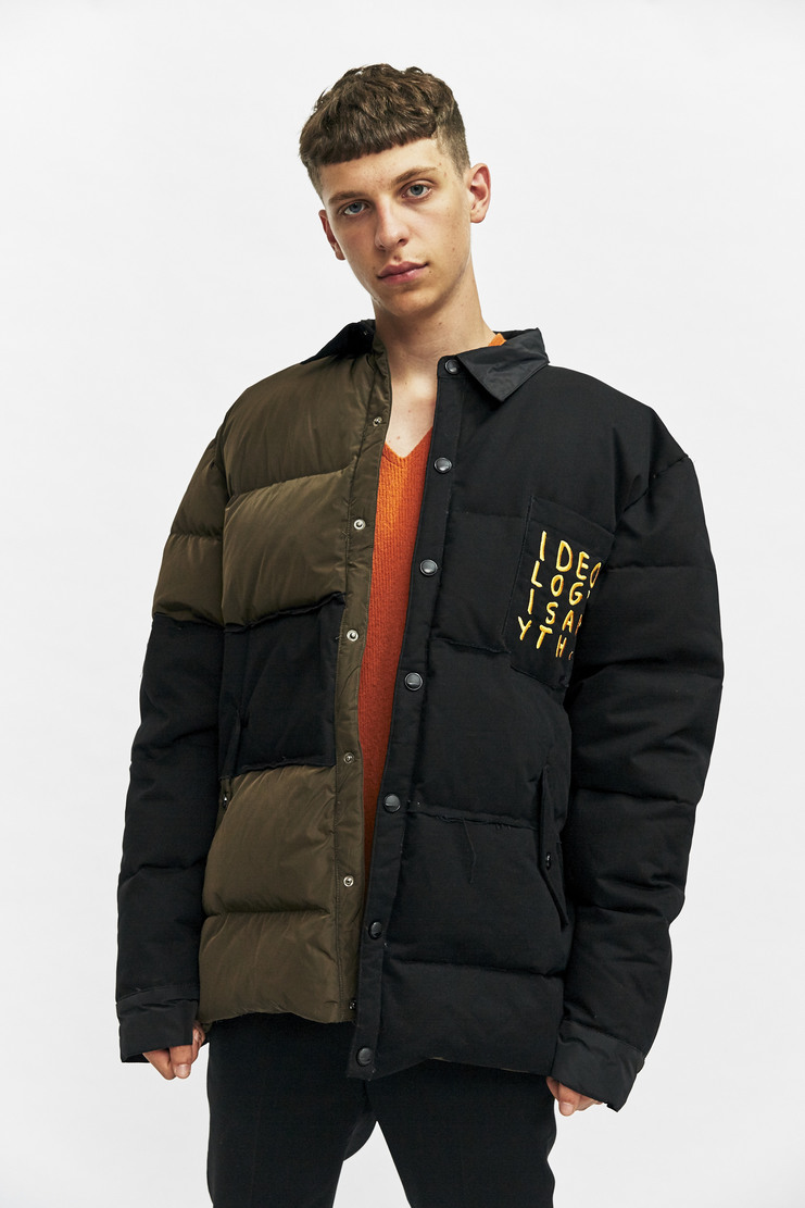 Liam Hodges Ideology Down Shirt Autumn Winter 17 AW17 Black puffer puffy ski padded oversized