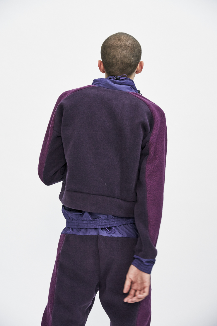 Purple Trek Fleece from Cottweiler's A/W 17 collection. The Black Trek Fleece features long sleeves, a toggle-adjusted neckline and an elasticated hem and cuffs.
