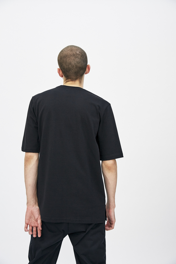 Black Logo T-shirt from Cottweiler's A/W 17 collection. The T-shirt features short sleeves, a crew neck and a printed graphic logo to the front.