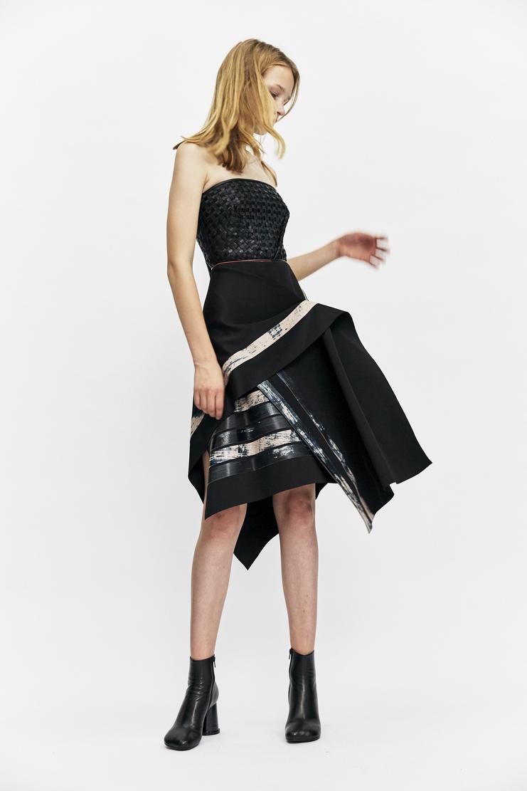 martina spetlova black skirt printed panel wrap skirt knee length knee aw17 martina spitlova martine spetlova