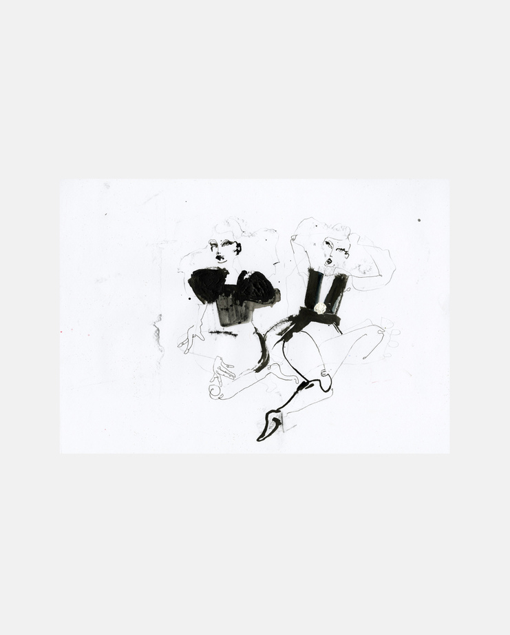 Bottega Veneta A/W 13, Fiona Gourlay, fashion illustration