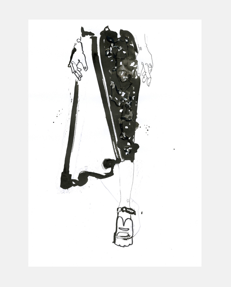 Prada A/W 13, Fiona Gourlay, fashion illustration