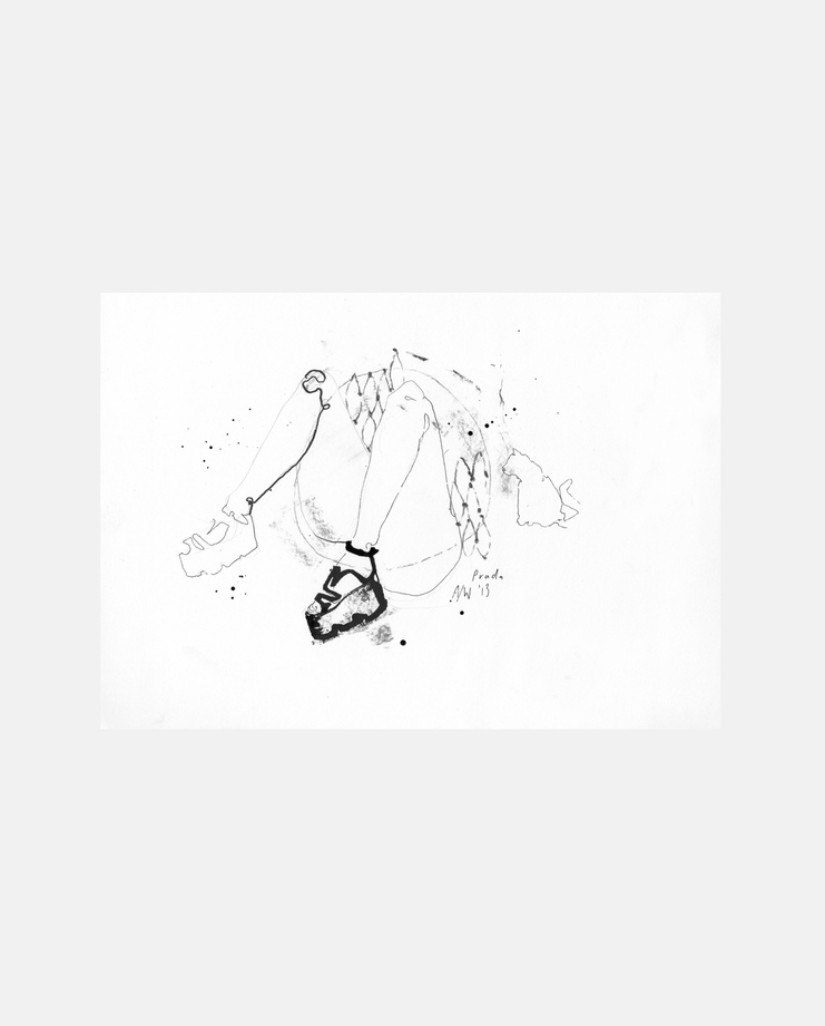 Prada A/W 13, Fiona Gourlay, fashion illustration