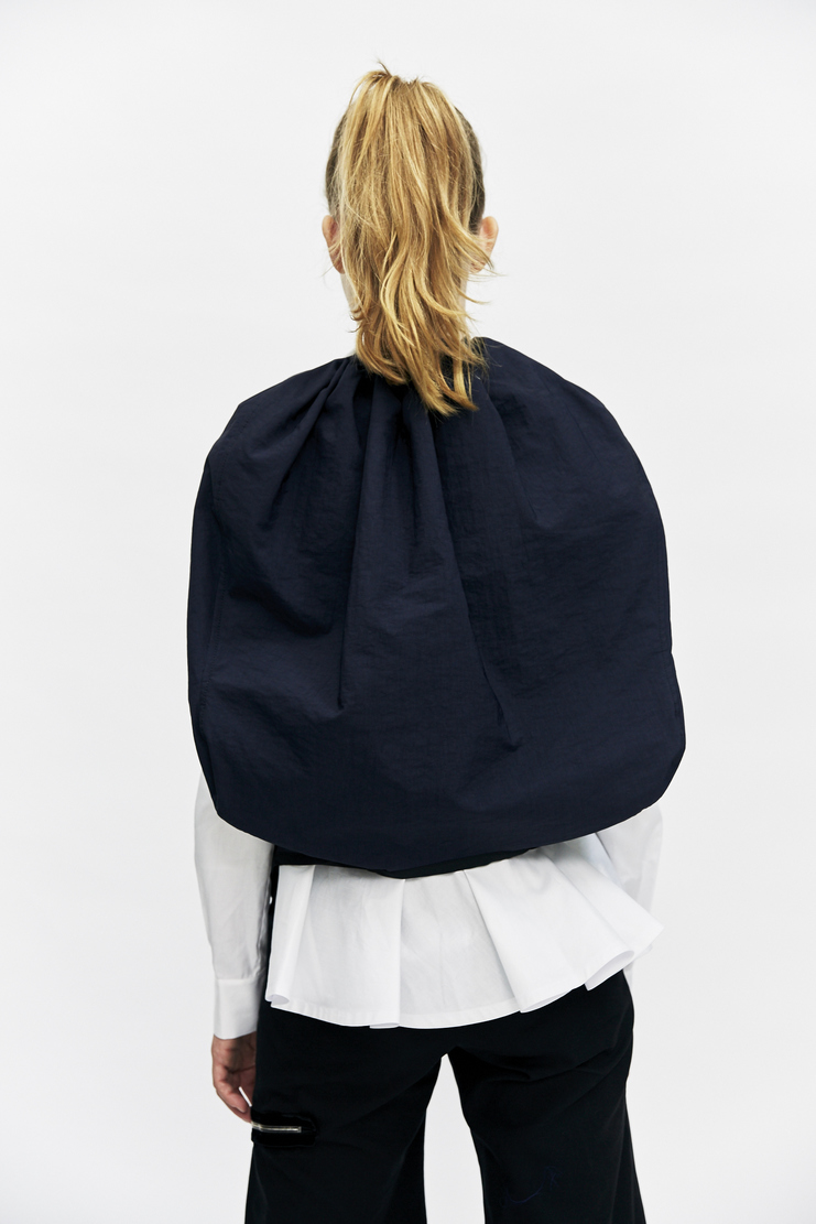 ovelia transtoto navy blue bulat waistcoat sleeveless jacket aw17 aw 17 a/w 17 ovellia transto waist coat