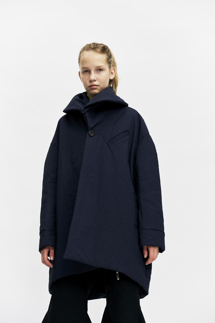 Ovelia Transtoto Protector Coat Autumn Winter 17 AW17 Ovellia Transto Navy Oversized Collar Jacket