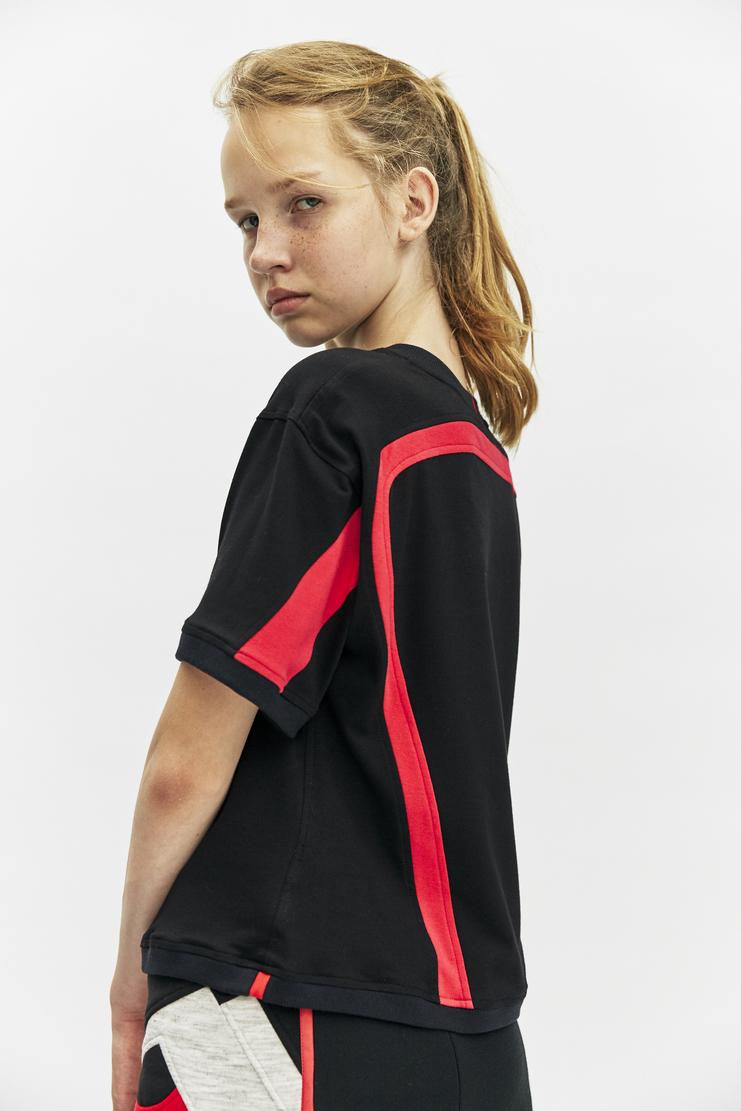rue-l rue l aw 17 a/w17 a/w17 short sleeve black signature T-shirt