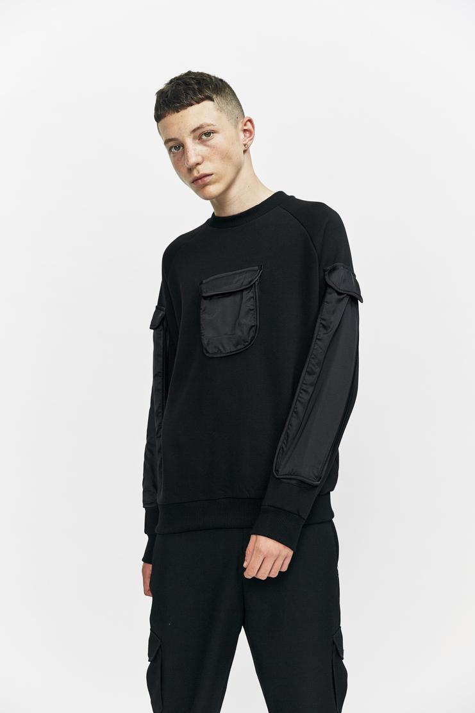 Cottweiler Utility Sweatshirt Autumn Winter 17 AW17 Cotweiler Cotweiller Pullover Jumper Sweater Black Pocket