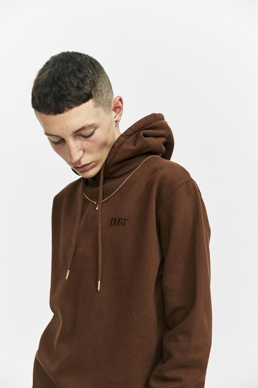 DUST Brown Chain Hoodie a/w 17 aw17 hoodie sweatshirt sweater chain necklace hood