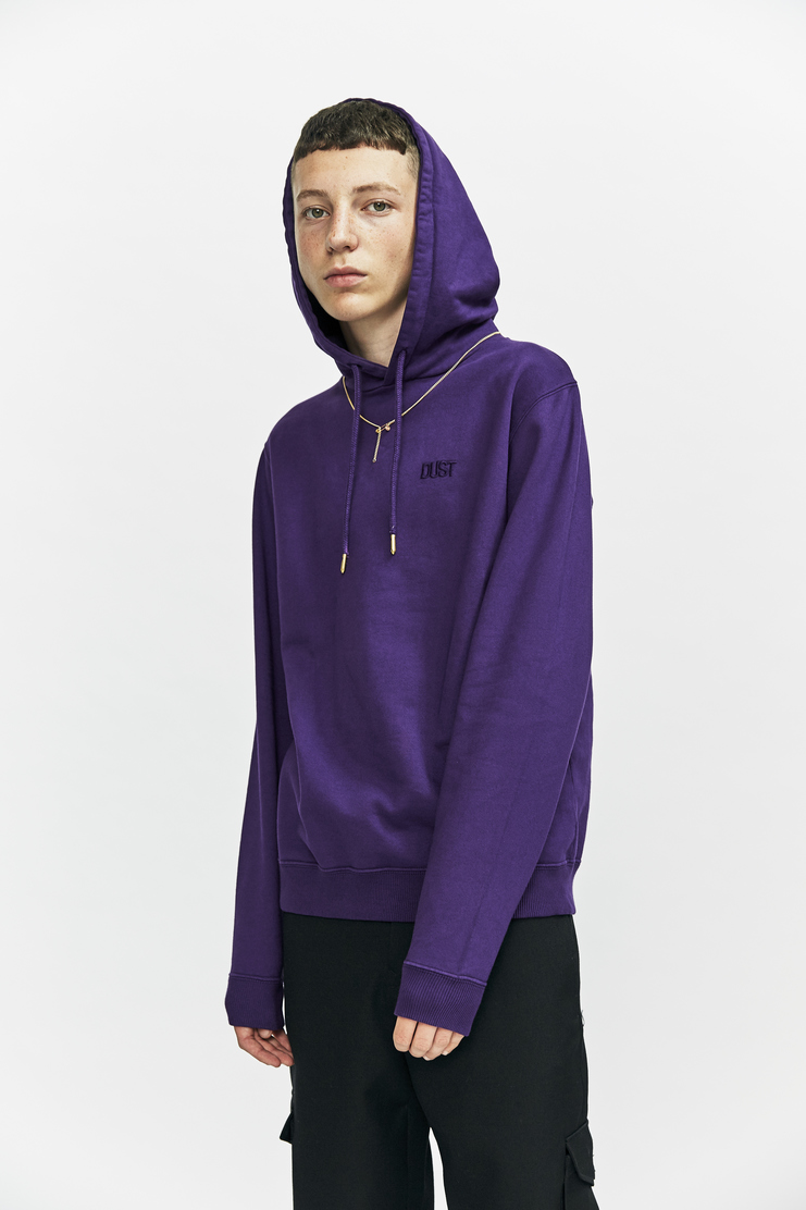 DUST a/w 17 aw17 hoodie sweatshirt sweater chain necklace purple hood