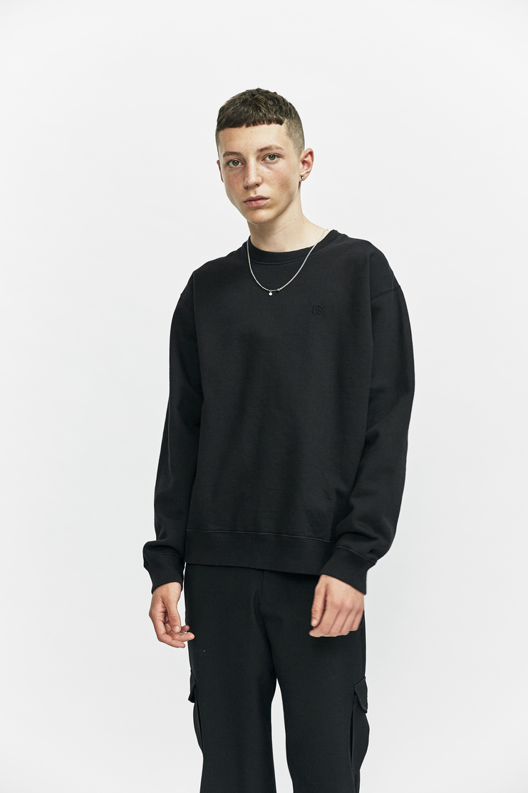 DUST a/w 17 aw17 sweatshirt sweater jumper black long sleeve chain necklace