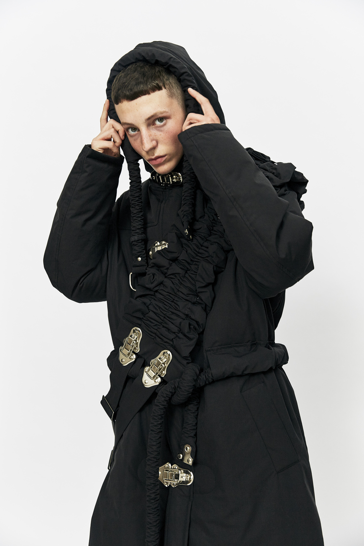 Craig Green Down Filled Workwear Long Coat Autumn Winter 17 AW17 Jacket Black Clips