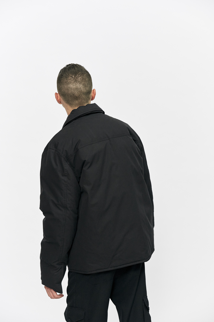 Criag Green Down Filled Workwear Jacket Autumn Winter 17 AW17 Coat Black Clips