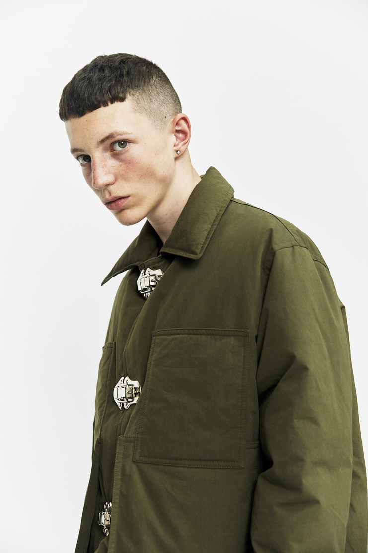 Criag Green Down Filled Workwear Jacket Autumn Winter 17 AW17 Coat Green Clips