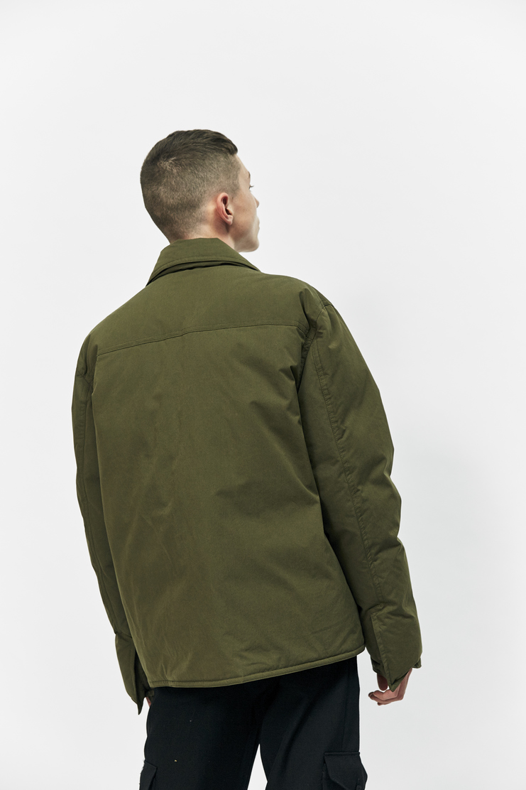 Craig Green Down Filled Workwear Jacket Autumn Winter 17 AW17 Coat Green Clips
