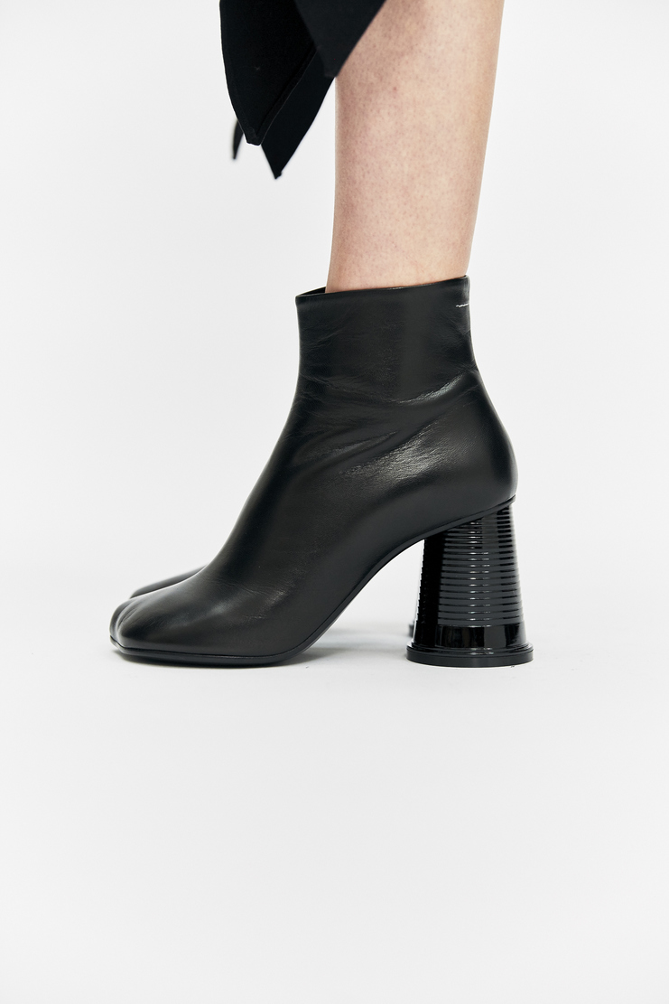 Maison Margiela Black Cup Heel Boots ankle plastic aw17 a/w 17 boot shoe martin margeila