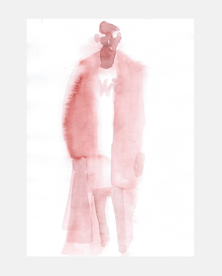 Francois-Henri Galland, Balenciaga, Paris Menswear, SHOWstudio, fashion illustration