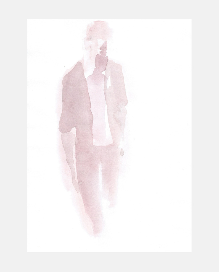 Francois-Henri Galland, Haider Ackermann , Paris Menswear, SHOWstudio, fashion illustration