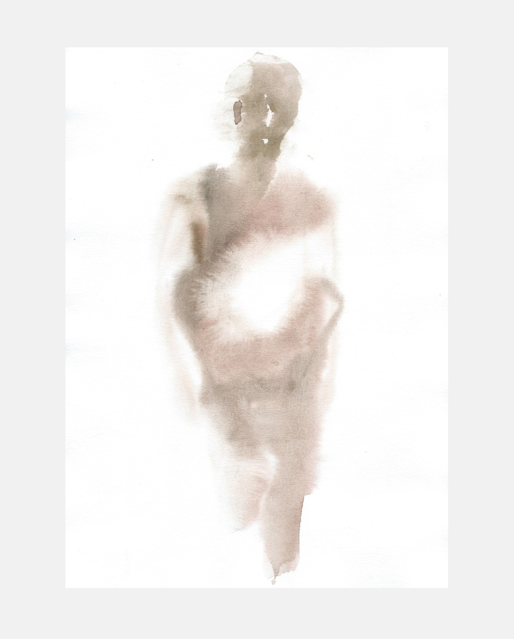 Francois-Henri Galland, Rick Owens, Paris Menswear, SHOWstudio, fashion illustration