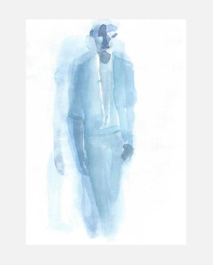 Francois-Henri Galland, Haider Ackermann, Paris Menswear, SHOWstudio, fashion illustration