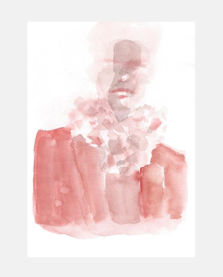 Francois-Henri Galland, Ann Demeulemeester , Paris Menswear, SHOWstudio, fashion illustration