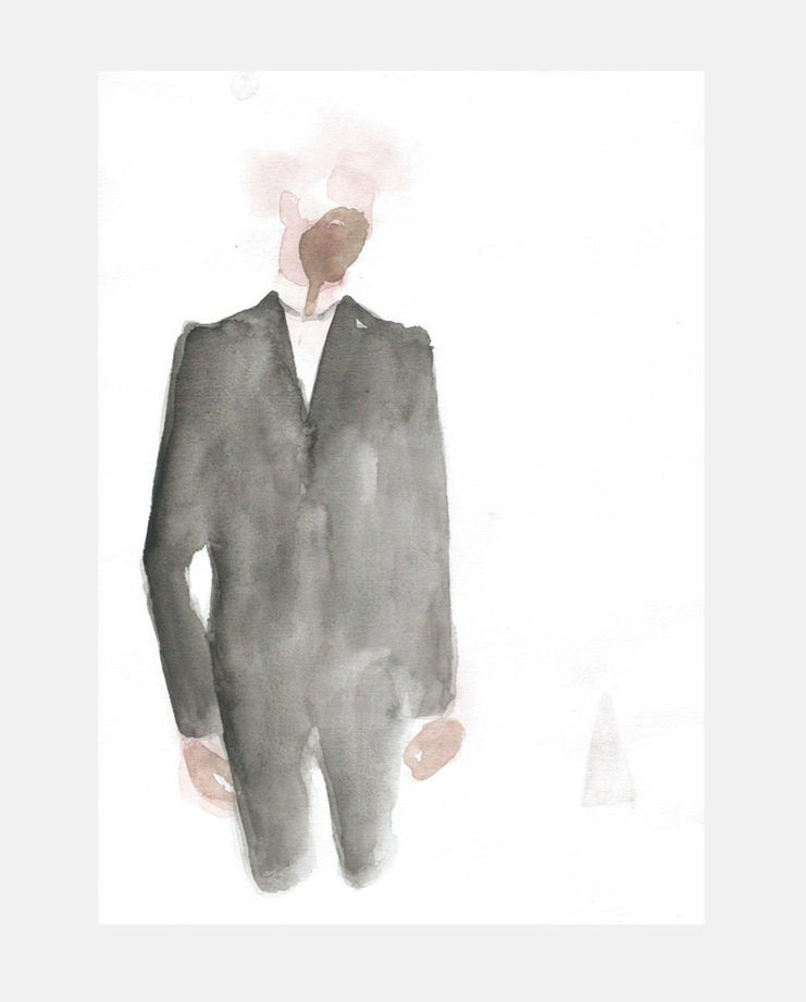 Francois-Henri Galland, Alexander McQueen, Paris Menswear, SHOWstudio, fashion illustration