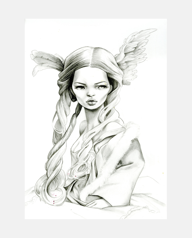 John Galliano S/S 94, Kukula, kate moss, moving kate, showstudio, fashion illustration