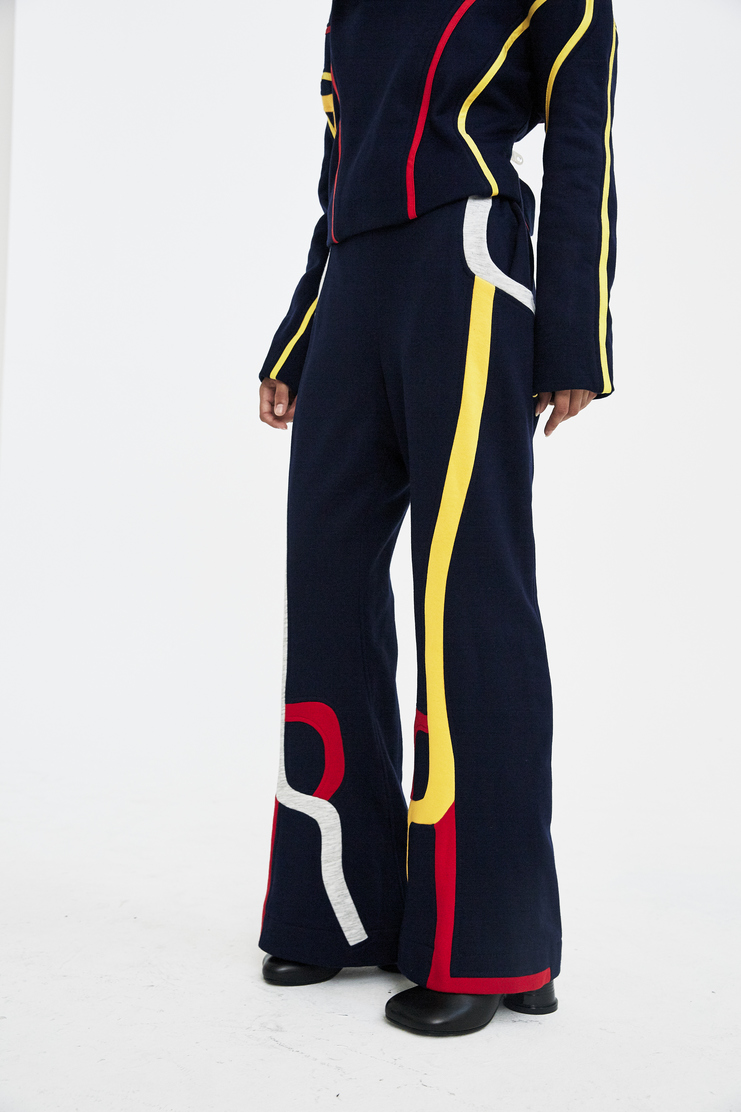 Rue-L Tracksuit Bottoms rue l aw 17 a/w17 a/w17 navy red yellow track pants sweatpants
