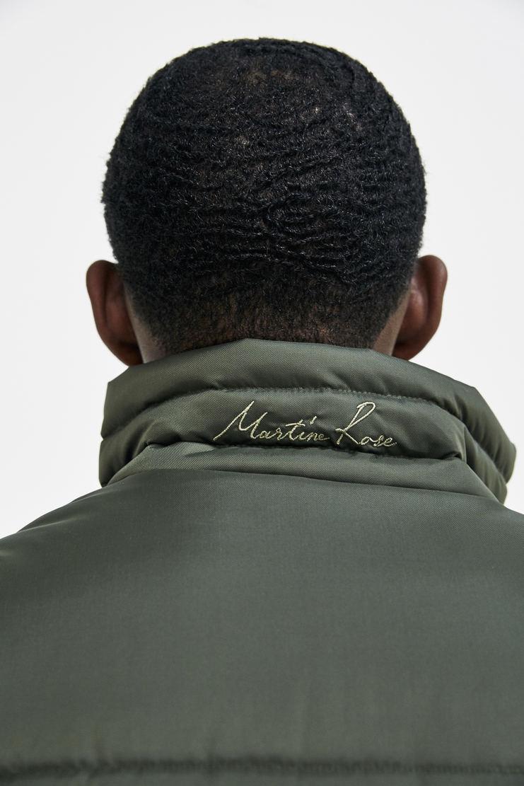 Martine Rose Darted Gilet a/w 17 aw 17 aw17 green khaki sleeveless padded oversized button up jacket coat
