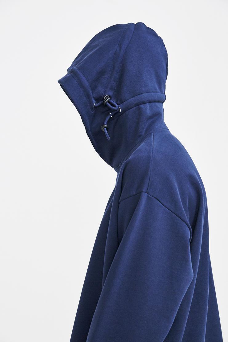 Martine Rose Triple Drawstring Logo Hoodie a/w 17 aw 17 aw17 navy hooded sweater sweatshirt hoodie hoody blue