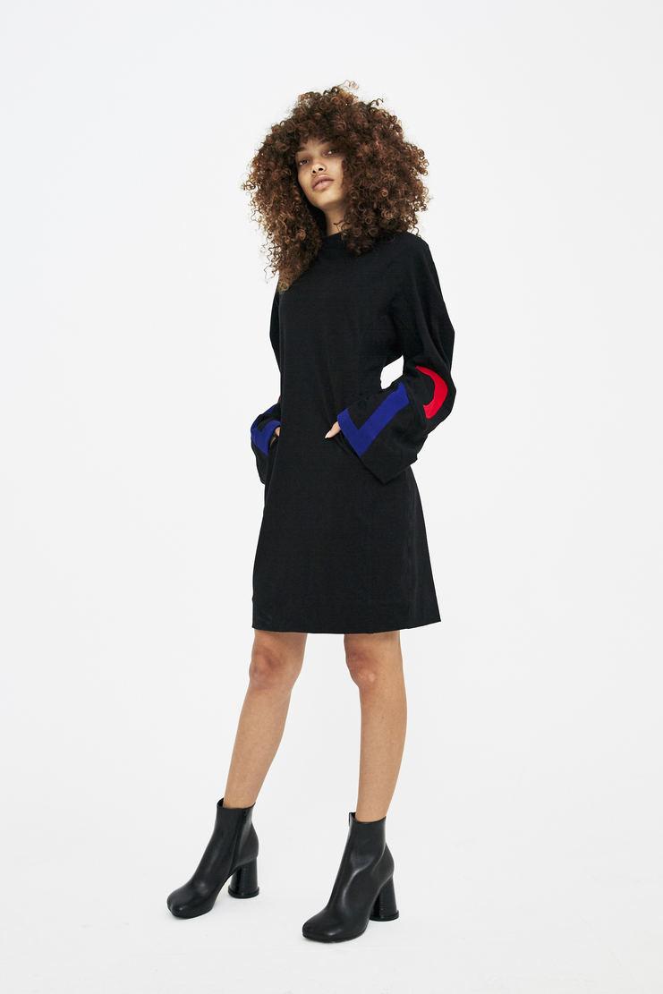 Rue-L Black T-shirt Dress rue l aw 17 a/w17 a/w17 black t-shirt dress t shirt