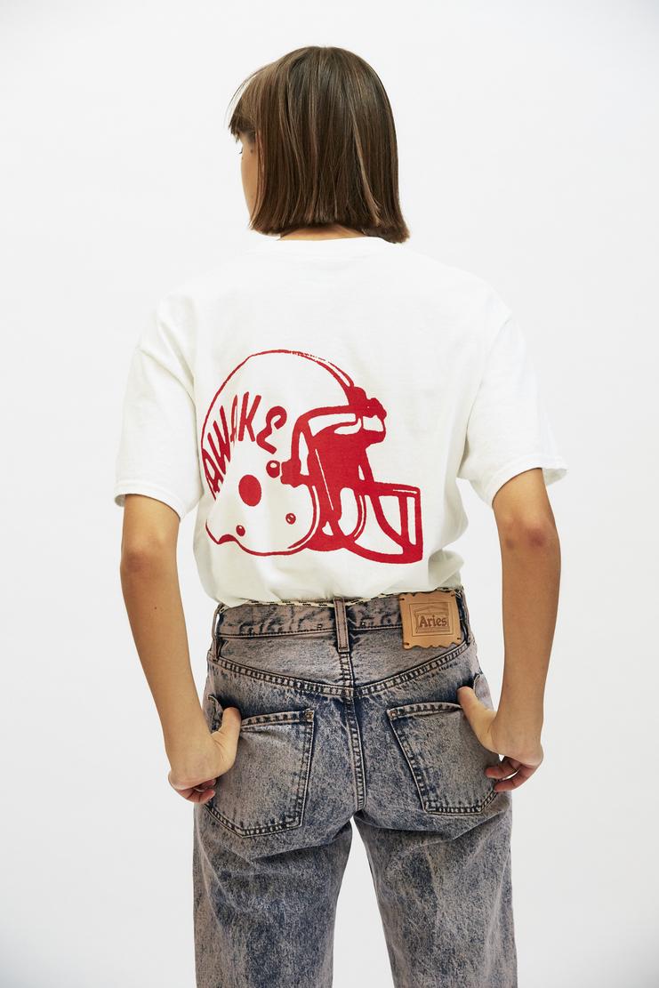 Aries Jawbreaker T-Shirt AW17 A/W 17 Arise Top American Football Helmet Jaw Breaker White