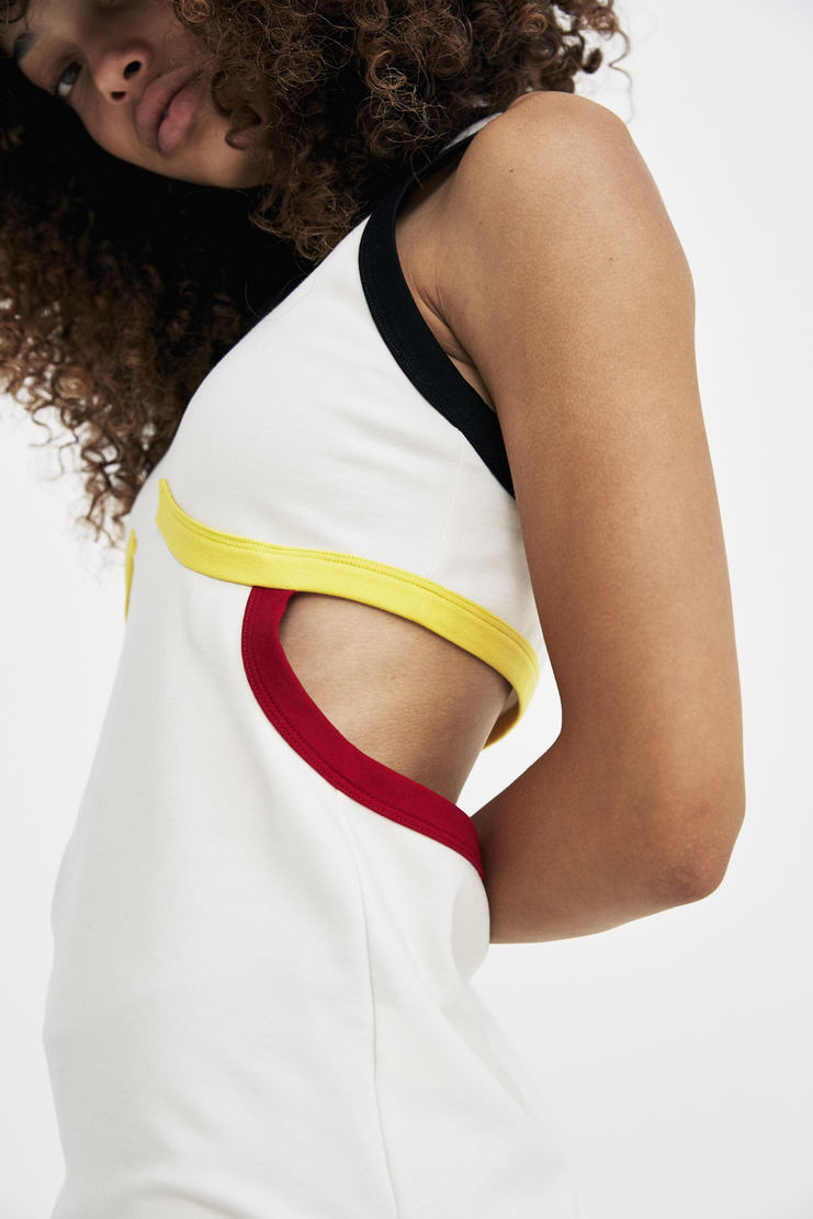 Tim Coppens White Race Tank Top sleeveless panelled a/w17 aw17 tim copens