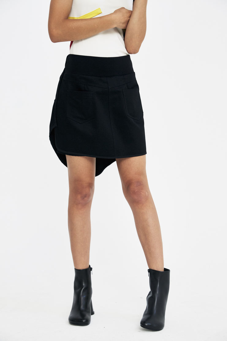 Tim Coppens Motocross Skirt buckle short panelled pocket zipped pointed a/w17 aw17 tim copens