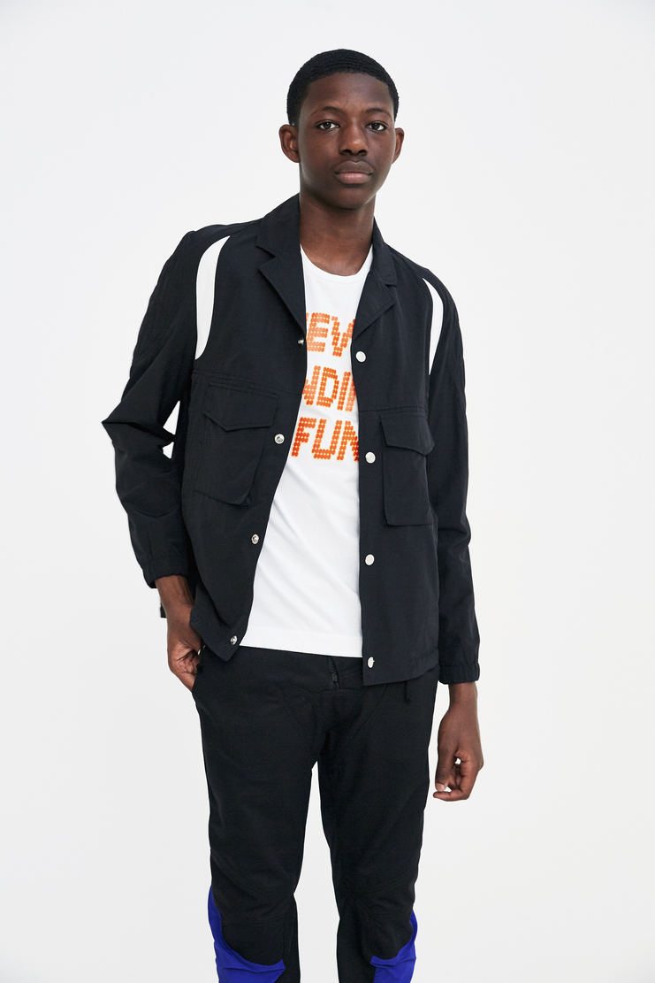 Tim Coppens Black Coach Jacket track top sportswear never ending fun a/w 17 aw17 tim copens