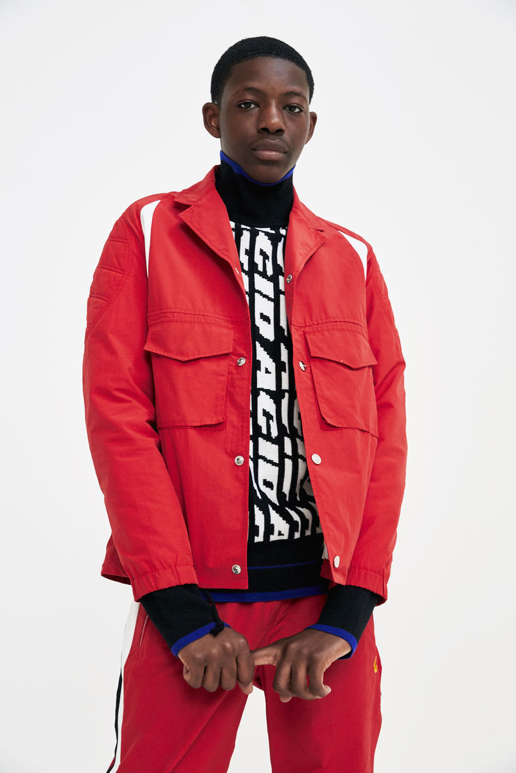Tim Coppens Red Coach Jacket track top sportswear never ending fun a/w 17 aw17 tim copens