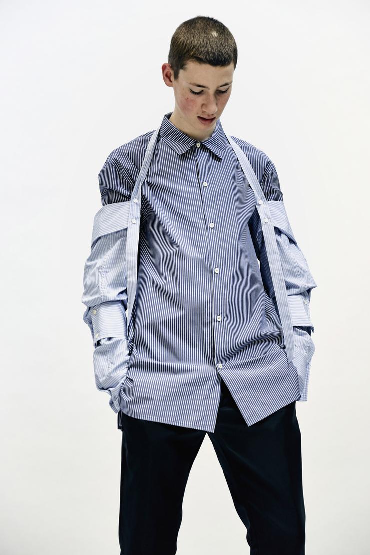 DELADA - Detachable Shirt Sleeves Lada Komarova Cotton sleeve accessory striped aw17 a/w17 a/w 17 autumn winter