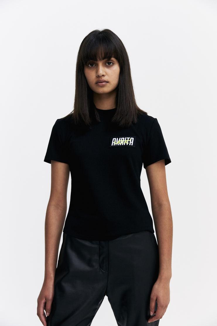 Hyein Seo 'Amrita' Embroidered T-Shirt Autumn Winter 17 AW17 Black Patch South Korea Preorder