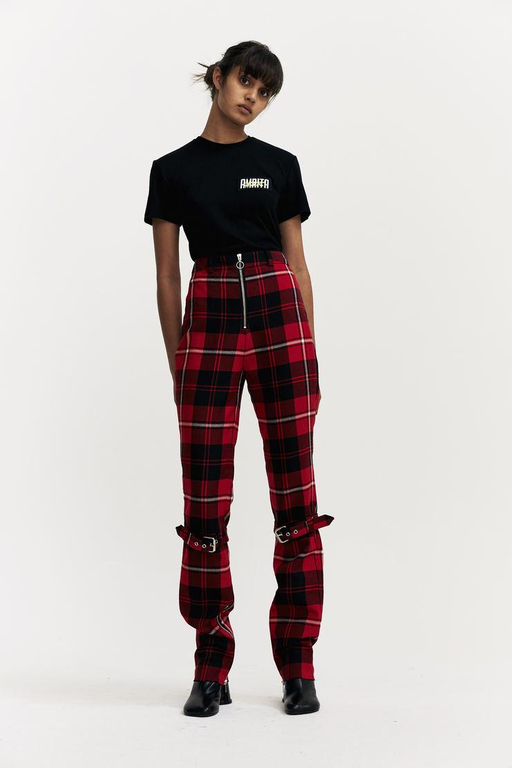 Dilara Findikoglu Manson's Trousers tartan buckle knee a/w 17 aw17 Dilara Findicoglu