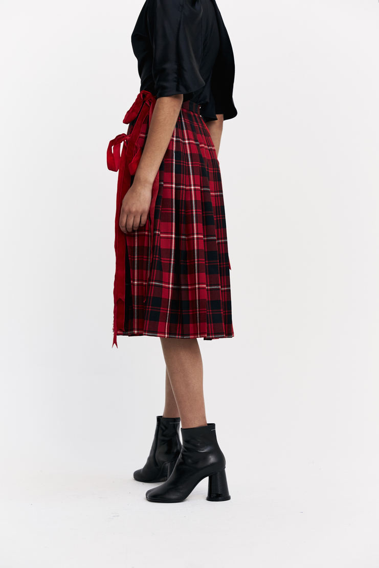 Dilara Findikoglu Pleated Flag Skirt tartan kilt skirt a/w 17 aw17 Dilara Findicoglu