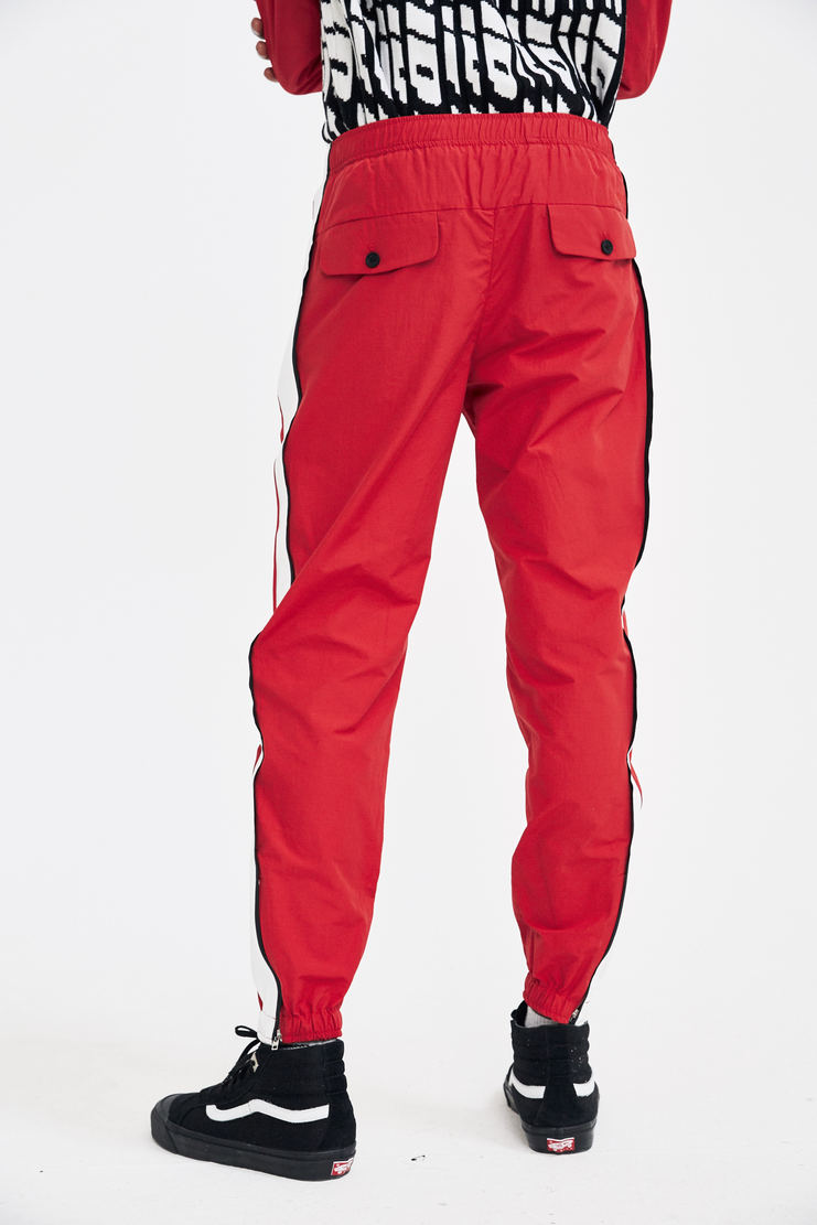 Tim Coppens Red Lux Joggers tracksuit pants trousers trackpants a/w17 aw17