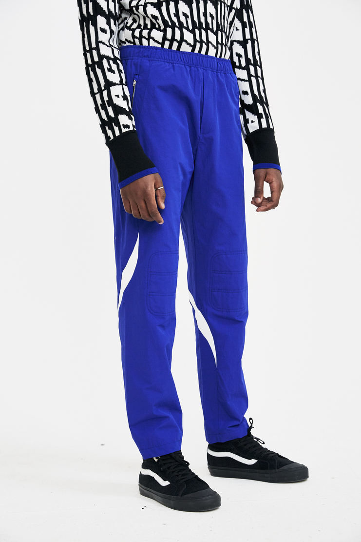Tim Coppens Blue Pieced Joggers tracksuit pants trackpants sportswear a/w17 aw17 tim copens