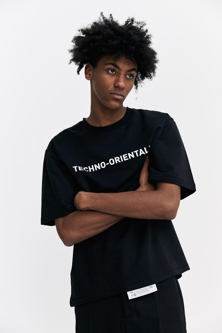 Xander Zhou Black Techno Orientalism T-shirt a/w 17 aw17 music japan top xandar zou
