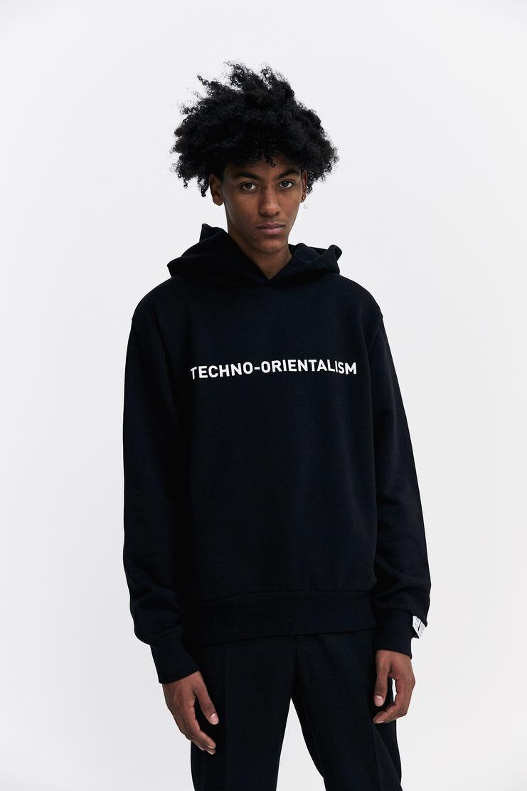 Xander Zhou Black Techno Orientalism Hoodie a/w 17 aw 17 zandar zou jumper sweater sweatshirt hooded